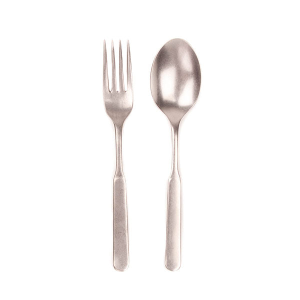 Lucca 2pc Salad Server in Stainless Steel