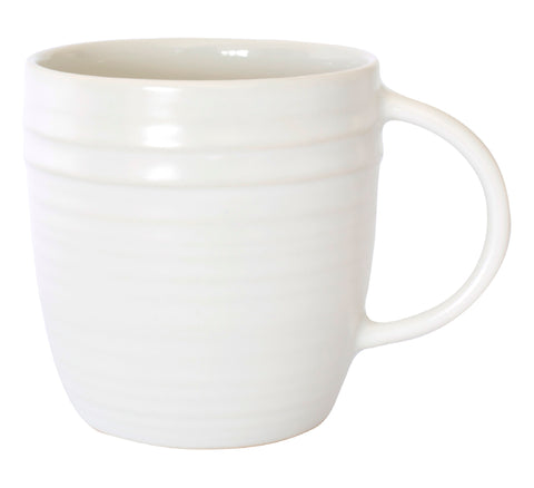 Lines Mug - White/White - Set of 4