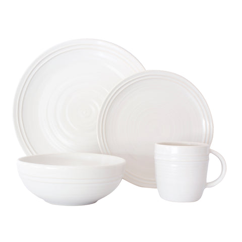 Lines 4-piece place setting - White/White