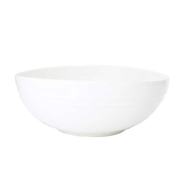 Lines Salad Bowl - White/White