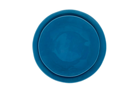 Evora Salad Plate in French Navy - Set of 4