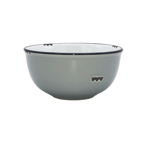 Tinware Small Bowl in Light Grey - Set of 4