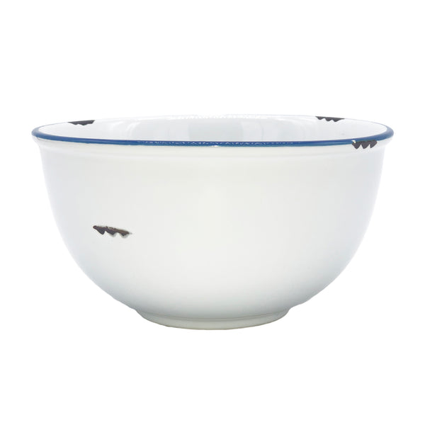 Tinware Bowl in White - Set of 4