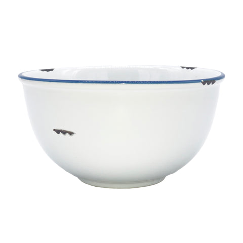 Tinware Tall Bowl in White - Canvas Home