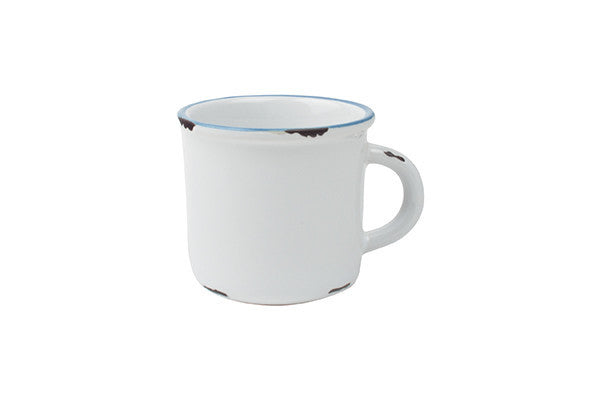 Tinware Espresso Mug in White - Canvas Home