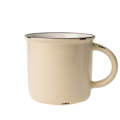 Tinware Mug in Cream - Set of 4