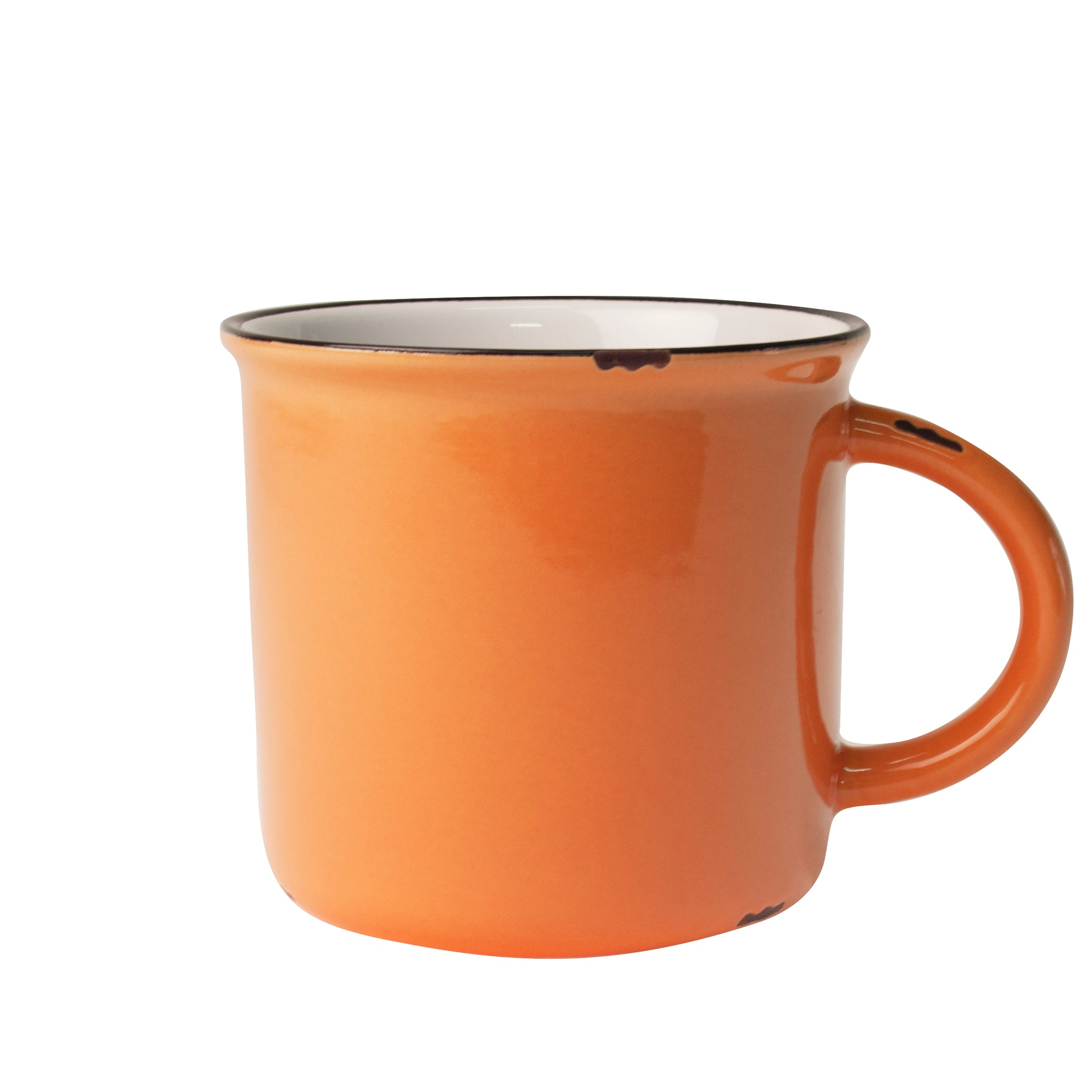 Tinware Mug in Burnt Orange - Set of 4