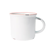Tinware Mug in White/Red Rim - Set of 4