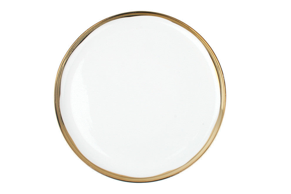 Dauville Dinner Plate in Gold - Canvas Home