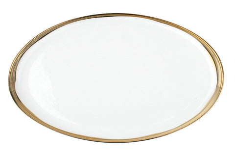 Dauville Platters with Gold Rim - Small - Canvas Home