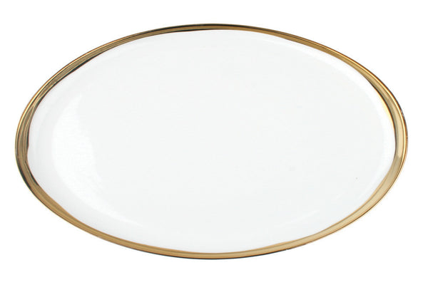 Dauville Platters with Gold Rim - Large - Canvas Home