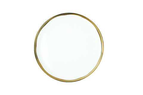 Dauville Salad Plate in Gold - Canvas Home