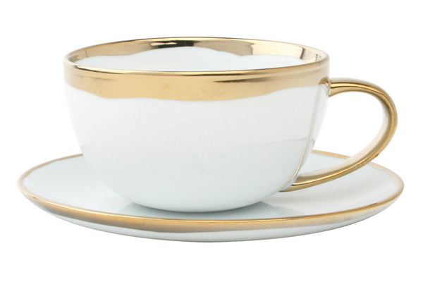 Dauville Cup & Saucer in Gold - Canvas Home