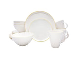 Abbesses 16-piece place setting - Yellow