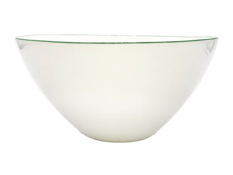 Abbesses Large Bowl Green Rim - Set of 2