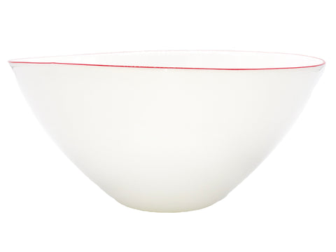 Abbesses Large Bowl Red Rim - Set of 2