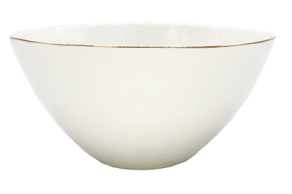 Abbesses Medium Bowl Gold Rim - Set of 4