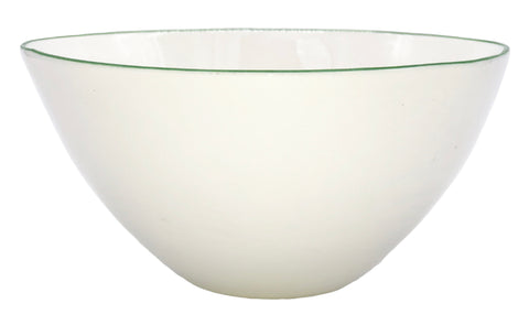Abbesses Medium Bowl Green Rim - Set of 4