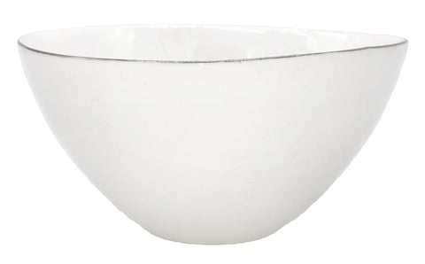 Abbesses Medium Bowl Platinum Rim - Set of 4