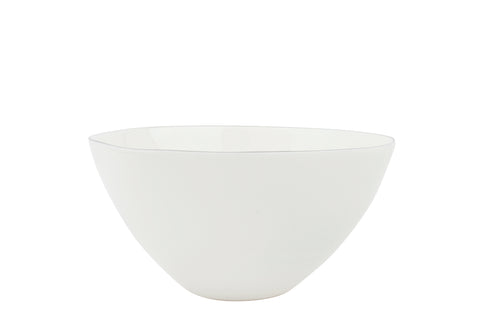 Abbesses Medium Bowl Platinum Rim - Canvas Home