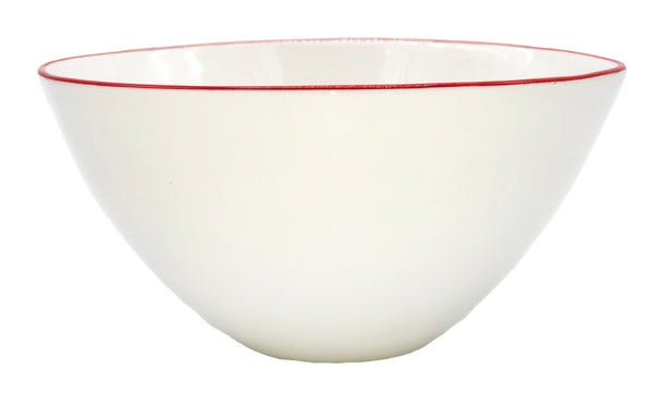Abbesses Medium Bowl Red Rim - Set of 4