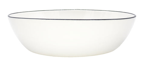 Abbesses Pasta Bowl Black Rim - Set of 4