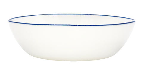 Abbesses Pasta Bowl Blue Rim - Set of 4