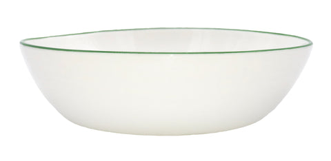 Abbesses Pasta Bowl Green Rim - Set of 4