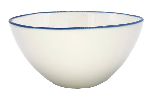 Abbesses Small Bowl Blue Rim - Set of 4