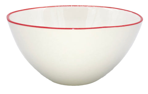 Abbesses Small Bowl Red Rim - Set of 4