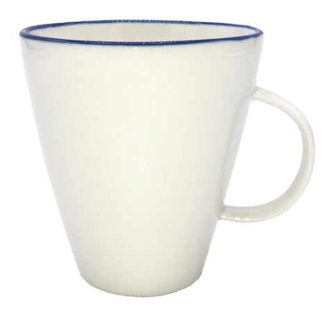 Abbesses Mug Blue Rim - Set of 4