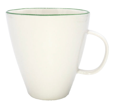 Abbesses Mug Green Rim - Set of 4