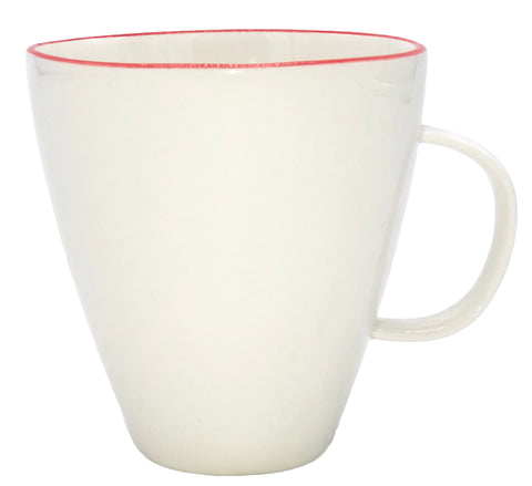 Abbesses Mug Red Rim - Set of 4