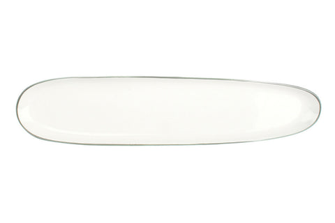 Abbesses Oblong Plate Platinum Rim - Canvas Home