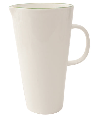 Abbesses Pitcher Green Rim - Canvas Home