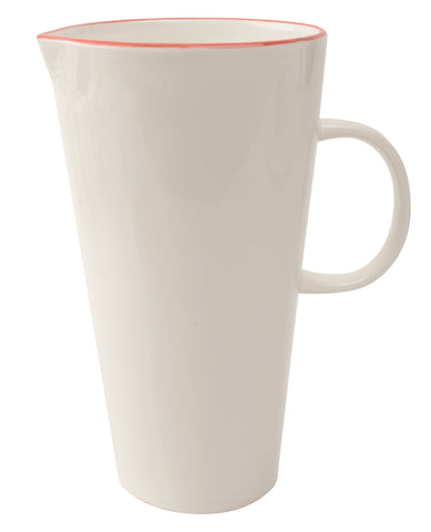 Abbesses Pitcher Red Rim