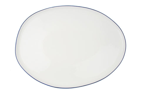 Abbesses Large Platter Blue Rim - Canvas Home