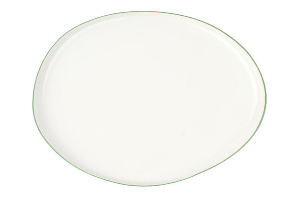 Abbesses Large Platter Green Rim - Canvas Home