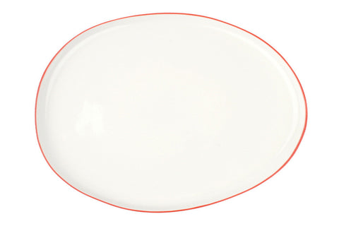 Abbesses Large Platter Red Rim - Canvas Home