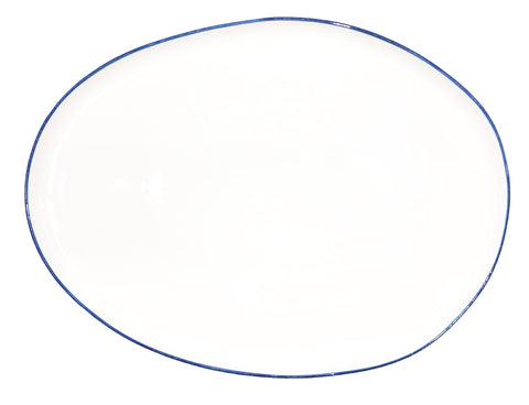 Abbesses Small Platter Blue Rim