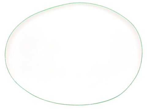 Abbesses Small Platter Green Rim
