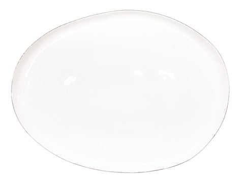 Abbesses Small Platter Platinum Rim