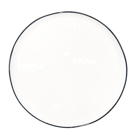 Abbesses Large Plate Black Rim - Set of 4