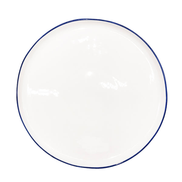 Abbesses Large Plate Blue Rim - Set of 4