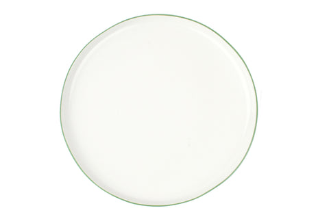Abbesses Large Plate Green Rim - Canvas Home