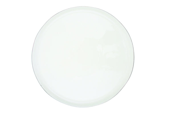 Abbesses Large Plate Platinum Rim - Canvas Home