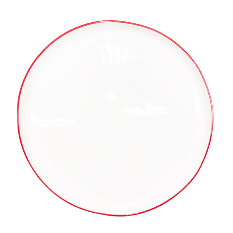 Abbesses Large Plate Red Rim - Canvas Home