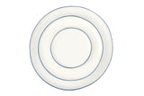 Abbesses Medium Plate Blue Rim - Canvas Home