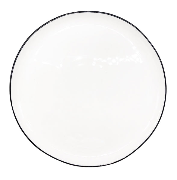 Abbesses Medium Plate Black Rim - Set of 4