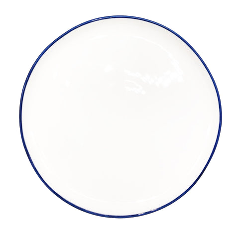 Abbesses Medium Plate Blue Rim - Set of 4